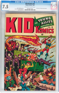 Kid Komics #6 (Timely, 1944) CGC VF- 7.5 Off-white to white pages
