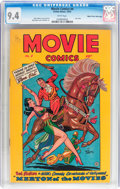 Golden Age (1938-1955):Miscellaneous, Movie Comics #4 Mile High pedigree (Fiction House, 1947) CGC NM 9.4 White pages....