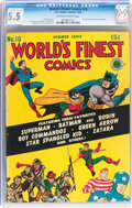 Golden Age (1938-1955):Superhero, World's Finest Comics #10 (DC, 1943) CGC FN- 5.5 Off-white to white pages....