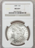 Morgan Dollars, 1889 $1 MS64+ NGC. NGC Census: (14765/2226). PCGS Population (10220/2029). Mintage: 21,726,812. Numismedia Wsl. Price for p...