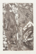"Prints:Contemporary, JASPER JOHNS (American, b. 1930). Wallace Stevens, Poems,1985. Limited edition book with frontispiece etching ""Summer"" ..."