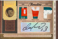 Football Cards:Singles (1970-Now), 2006 Donruss National Treasures Dan Marino Signed/Jersey SwatchInsert Card #'d 2/5. ...
