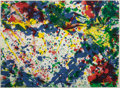 Prints:Contemporary, SAM FRANCIS (American, 1923-1994). Untitled (from thePapierski Portfolio), 1992. Lithograph in colors. 22 x 30inch...