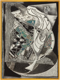 Prints, FRANK STELLA (American, b. 1936). Jonah Historically Regarded (from Moby Dick Engravings), 1991. Relief-printed etch...