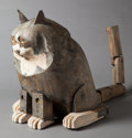 Fine Art - Sculpture, American:Contemporary (1950 to present), LOUIS KRUGER (American, b. 1924). Seated Cat. Painted wood.17 inches (43.2 cm) high. FROM THE ESTATE OF RAY F. FLEMIN...