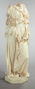 Textiles, MURIEL CASTANIS (American, 1926-2006). Torso XI, 1990. Textile and epoxy. 64-1/2 inches (163.8 cm) high. Signed, dated a...