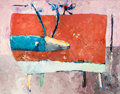 Paintings, VALENTINA DUBASKY (American, b. 1951). Russet Stag with Blue Antlers, 1983. Oil on canvas. 66-1/4 x 84-1/4 inches (168.3...