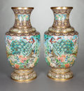 Asian:Chinese, A PAIR OF CLOISONNÉ PALACE URNS, 20th century. 41-1/2 inches high(105.4 cm). ... (Total: 2 Items)