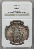 Morgan Dollars: , 1889 $1 MS63 NGC. NGC Census: (17073/16991). PCGS Population(15103/12249). Mintage: 21,726,812. Numismedia Wsl. Price for ...