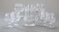 Art Glass:Other , A SET OF SIX SCOTTISH GLASS THISTLE PATTERN BRANDY STEMSWITH PITCHER, Edinburgh Crystal, Edinburgh, Scotland, c... (Total:7 Items)