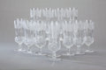 Art Glass:Other , A SET OF SCOTTISH GLASS THISTLE PATTERN CHAMPAGNE STEMS,Edinburgh Crystal, Edinburgh, Scotland, circa 1900. Mar... (Total:12 Items)