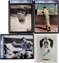Baseball Collectibles:Photos, 1961 New York Yankees Signed Photograph Lot of 33 With MickeyMantle....
