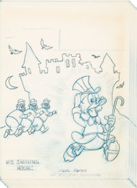Carl Barks Uncle Scrooge #63 Cover Preliminary Original Art (Gold Key, 1966)