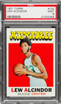 Basketball Cards:Singles (1970-1979), 1971 Topps Lew Alcindor #100 PSA Mint 9....