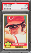 Baseball Cards:Singles (1970-Now), 1976 Topps Pete Rose #240 PSA Mint 9 - Only One Higher. ...