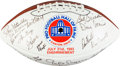 Football Collectibles:Balls, 1993 Pro Football Hall of Fame Multi Signed Football - Presented to Bill Walsh....