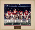 Football Collectibles:Photos, 1980's Bill Walsh Personal Photographs and Lithographs Lot of 7....