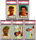 Baseball Cards:Lots, 1952 Topps Baseball High Number PSA NM 7 Collection (5). ...
