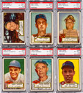 Baseball Cards:Lots, 1952 Topps Baseball High Number PSA EX-MT+ 6.5 Collection (8). ...