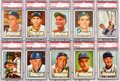 Baseball Cards:Lots, 1952 Topps Baseball High Number Graded Collection (10). ...