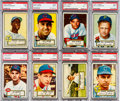Baseball Cards:Lots, 1952 Topps Baseball PSA NM 7 Collection (36). ...