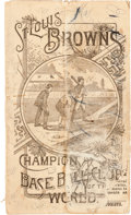 Baseball Collectibles:Others, 1889 St. Louis Browns Champions Pamphlet from the Charles Comiskey Collection....