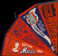Baseball Collectibles:Others, 1969 New York Mets World Series Pennants Lot of 4....