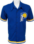 Basketball Collectibles:Uniforms, Mid 1970's Kevin Joyce Game Worn Indiana Pacers Warm Up Jacket....