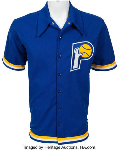 check out 1fa91 bfb39 Mid 1970's Kevin Joyce Game Worn Indiana Pacers Warm Up ...