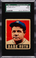 Baseball Cards:Singles (1940-1949), 1948 Leaf Babe Ruth #3 SGC 10 Poor 1....