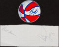 Basketball Collectibles:Others, Oscar Robertson, Bill Sharman and Bob Cousy Signed Memorabilia Lot of 2....