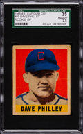 Baseball Cards:Singles (1940-1949), 1948 Leaf Dave Philley SP #85 SGC 35 Good+ 2.5....