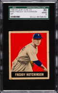 Baseball Cards:Singles (1940-1949), 1948 Leaf Freddy Hutchinson SP #163 SGC 30 Good 2....