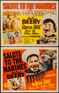 "Movie Posters:War, Salute to the Marines (MGM, 1943). Half Sheet (22"" X 28"") Styles A& B. War.. ... (Total: 2 Items)"
