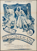 "Movie Posters:Fantasy, Alice in Wonderland (Souvaine Selective, 1951). Poster (40"" X 54"")& Lobby Card Set of 4 (11"" X 14"") . Fantasy.. ... (Total: 5Items)"