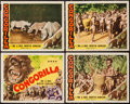 """Movie Posters:Action, Congorilla (Morro Films, R-1940s). Title Lobby Card & LobbyCards (3) (11"""" X 14""""). Action.. ..."""