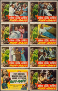 "Movie Posters:Adventure, Riff-Raff (RKO, 1947). Lobby Card Set of 8 (11"" X 14""). Adventure..... (Total: 8 Items)"