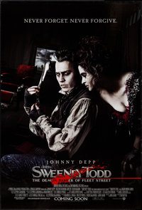 "Sweeney Todd: The Demon Barber of Fleet Street (Warner Brothers, 2007). British One Sheet (27"" X 40"") DS Advan..."