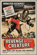 "Movie Posters:Horror, Revenge of the Creature (Universal International, 1955). One Sheet (27"" X 41""). Horror.. ..."