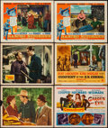 "Movie Posters:Western, Sunset in Wyoming & Others Lot (Republic, 1941). Title Lobby Card & Lobby Cards (5) (11"" X 14""). Western.. ... (Total: 6 Items)"