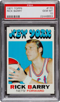 Basketball Cards:Singles (1970-1979), 1971 Topps Rick Barry #170 PSA Gem Mint 10 - Pop Four....