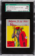 Non-Sport Cards:Singles (Pre-1950), 1937 Wolverine Ripley's Believe It or Not #22 SGC 88 NM/MT 8- Pop One, The Highest Known! ...