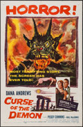"""Movie Posters:Horror, Curse of the Demon (Columbia, 1957). One Sheet (27"""" X 41"""").Horror.. ..."""