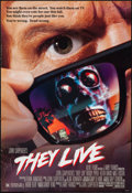 """Movie Posters:Science Fiction, They Live (Universal, 1988). One Sheet (27"""" X 39.5"""") DS. ScienceFiction.. ..."""