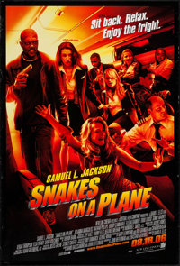 """Snakes on a Plane & Other Lot (New Line, 2006). One Sheets (2) (27"""" X 40"""") DS Advance. Thriller. ... (Tota..."""