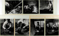 Books:Prints & Leaves, Group of Seven Photos Of a Japanese Man Making Swords. Used in the March 1977 issue of Horizon. Mounted to two backings....