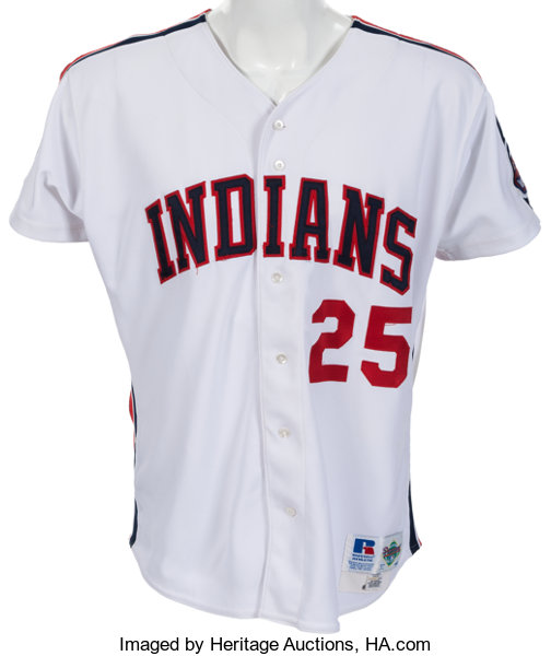 competitive price 620d4 ec693 1993 Jim Thome Game Worn Cleveland Indians Jersey With Team ...