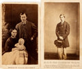 """Photography:CDVs, [Carte de Visite]. Two Cartes de Visite of the Prince of Wales and His Family. One is dated 1860. Measures 2.5"""" x 4"""". Very g..."""