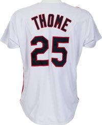 competitive price f22e9 f4bad 1993 Jim Thome Game Worn Cleveland Indians Jersey With Team ...