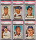 Baseball Cards:Lots, 1952 Topps Baseball High Number PSA NM 7 Collection (6). ...